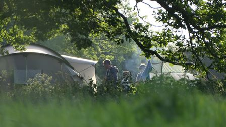 The Birds and Bees campsite at Rendham, near Framlingham. Picture: James Strachan