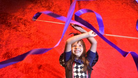 Soraya Seymour,7, in rehearsals for her role as the Ringmaster in the My First Circus Show at the Ga