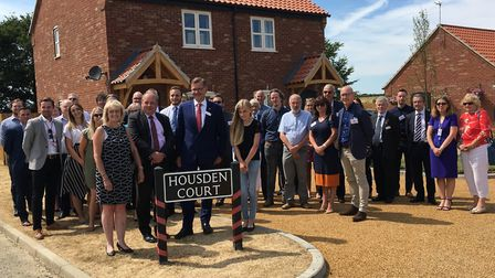 Dawn Housden, Michael Newey and Bethany Housden at the official unveiling of the Housden Court stree