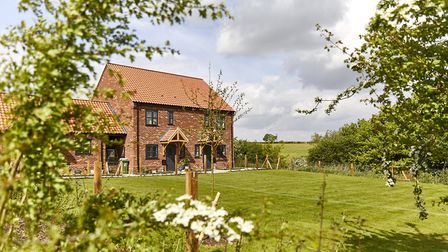 New homes at Housden Court Broadland Housings new affordable housing development in Great Ryburgh.