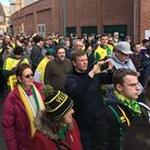 Norwich City fans were angered by the sale (Picture taken from fans march in February) Pi