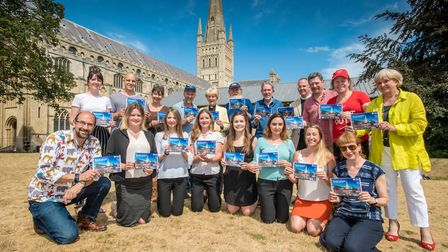 The launch of the 2018 Hostry Festival brochure at Norwich Cathedral. Photo: Simon Finlay Photograph
