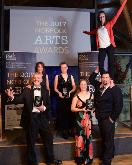 The Norfolk Arts Awards will be returning to the 2018 Hostry Festival. Pictured are the 2017 EDP Peo