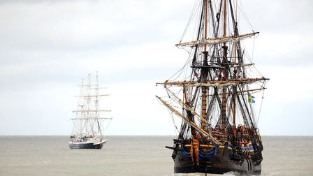 The Götheborg (right) is one of Norfolk's many peculiar links with Sweden