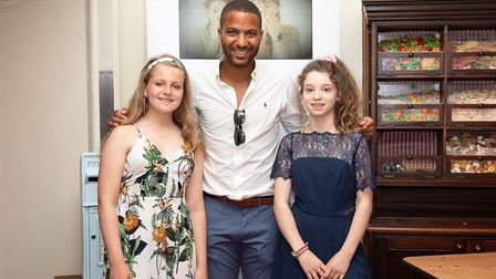 Charlotte Fuller (right) and Maria Hardcastle with ITV's Sean Fletcher. Photo: Marie Fuller