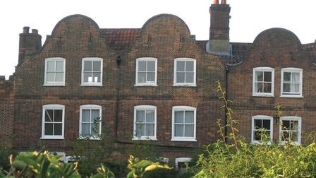 The Dutch look of many 17th-century Norfolk buildings - such as this one in Cathedral Close - shows