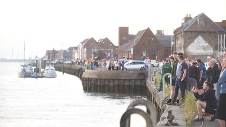 The Fin Whale has returned to the River Ouse near the quay in King's Lynn. Picture: Ian Burt