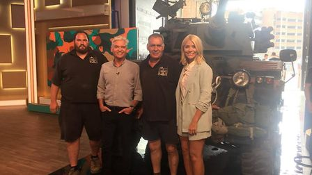 Volunteers from the Norfolk Tank Museum with Holly and Phil. Picture: Norfolk Tank Museum