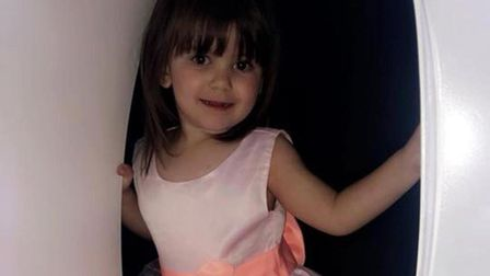Ava-may Littleboy, three, who was killed when an inflatable trampoline exploded in Gorleston. PHOTO:
