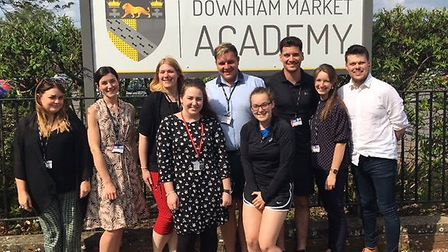 Trainee teachers got a taste of real school life when they went to Downham Market Academy. Picture: