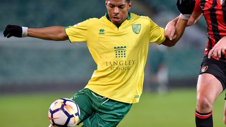 Norwich City striker Tristan Abrahams will spend 2018-19 at Exeter Picture: Nick Butcher