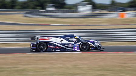 Brockdish racer Bonamy Grimes, with co-driver Johnny Mowlem on their way to the LMP3 Cup podium in r