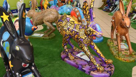 The GoGoCreate leaping leverets arrive at intu Chapelfield. Picture: DENISE BRADLEY