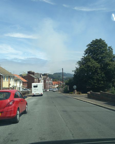 Smoke rising from the scene of the fire near Cromer Lighthouse. Picture: NATASHA WATTS
