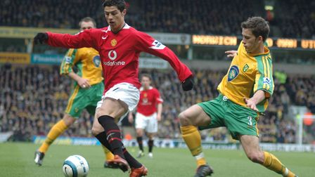 Cristiano Ronaldo in action at Carrow Road in 2005 Photo: Nathan Clarke