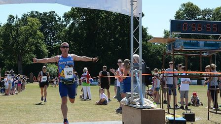 Action from the Harling 10K. Photo: Malcolm J Blades Sport Photography