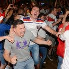 England v Colombia World Cup match. People watching the game in Bar & Beyond.Picture: ANTONY KELLY