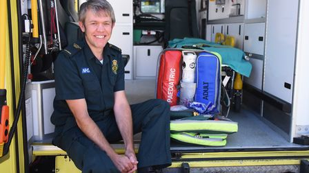 Paramedic Tom Miller who was the first on the scene, with (EMT) Abigail Alderton, when Allan Morgan