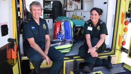 Paramedic Tom Miller, and emergency medical technician (EMT) Abigail Alderton, who were the first on