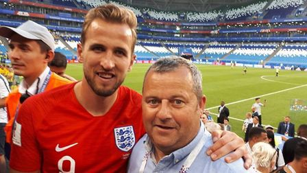 Harry Kane with his Norfolk uncle Eric Hogg (Image: Eric Hogg)