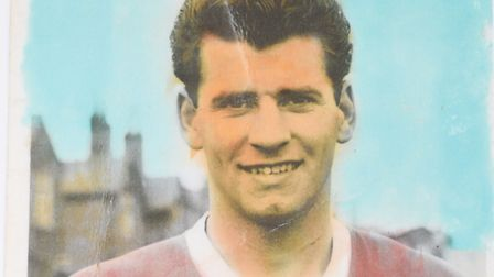 Frank Lockey back in his Liverpool playing days in the 1957-8 season.