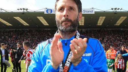 Lincoln chief Danny Cowley is looking forward to Norwich City's visit Picture: Nigel French/PA Wire.
