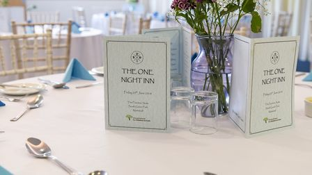 The menu in the Old Night Inn event. Picture: Norfolk County Council