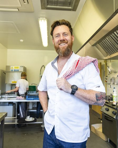 Chef Mark Lloyd, who helped with the One Night Inn event, run by Norfolk County Council. Picture: No