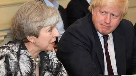 Prime minister Theresa May with now-former foreign secretary Boris JohnsonPhoto: PA / Leon Neal