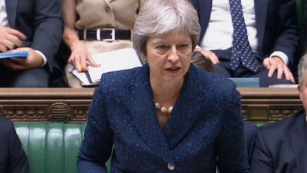 Prime Minister Theresa May updates MPs in the House of Commons on the Chequers Brexit planPhoto: PA