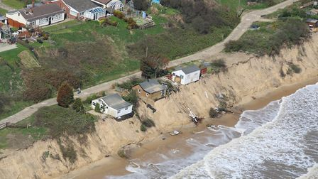 The Hemsby coast on May 1 2018 looking down on the Marrams. Photo: Mike Page