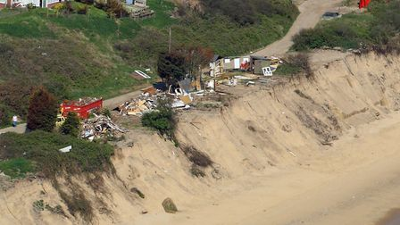 The Hemsby coast on May 7 2018 looking at the Marrams. Photo: Mike Page