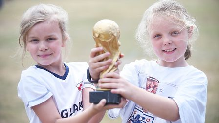Howard Junior School pupils in Gaywood are celebrating England's progress at the World Cup. Picture: