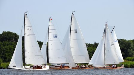 Action from the Cruiser race at NBYC. Picture: Mike Barnes