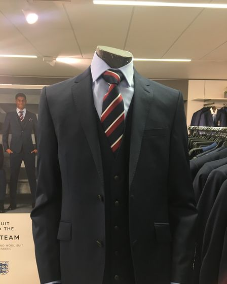 The official England suit, waistcoat and tie. Picture: Archant