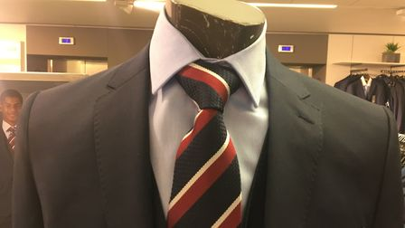 The official England Team suit and tie. Picture: Archant