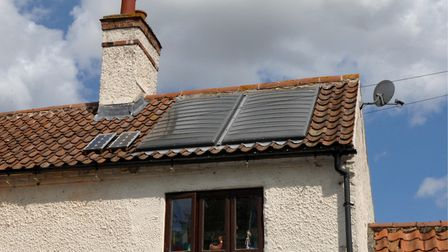 Solar panels on the roof of a home. Picture: Colin Finch