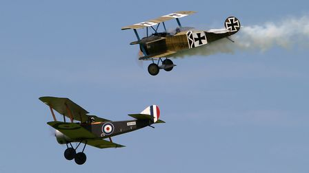Aircraft from the Bremont Great War Display Team are heading to Old Buckenham. Picture Paul Johnson/