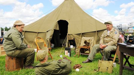 Crowd-Wartime re-enactments are among the on-ground attractions at Old Buckenham Airshow. Photo : St