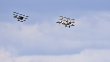 Aircraft from the Bremont Great War Team are due to display at Old Buckenham Airshow. Picture: Nick