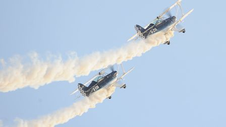 Tight precision formatin flying from The Wildcats Aerobatics team. Picture: Denise Bradley