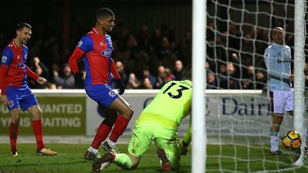 Mason Bloomfield scoring for Dagenham & Redbridge - he is sure the goals will keep coming during his