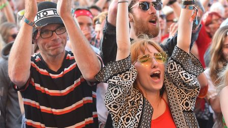 The crowd enjoying Belle and Sebastian at Latitude 2018.Picture: Nick Butcher
