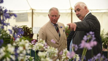 The Prince of Wales at the Sandringham Flower Show. Picture: Ian Burt