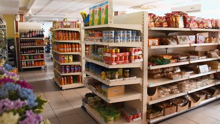 Stock still on the shelves at the Desh Supermarket in Magdalen Street which has been closed since Fe