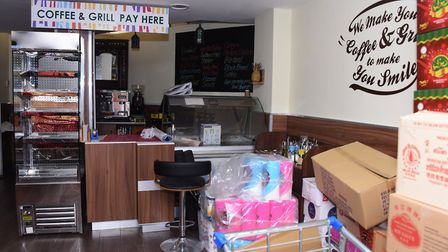 The cafe inside the Desh Supermarket which has been closed since February Picture: DENISE BRADLEY