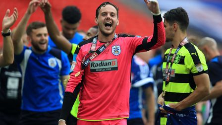 Liverpool goalkeeper Danny Ward - who won Premier League promotion with Huddersfield Town 12 months