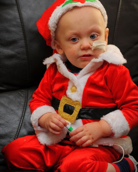 North Walsham toddler Ryan Wright at home for Christmas. Photo: Steve Adams