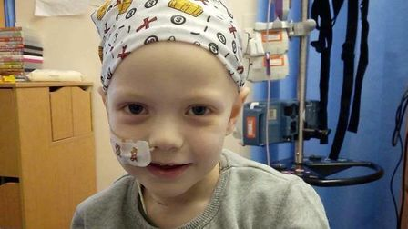 Denver Clinton, a three-year-old from Mattishall with cancer. PHOTO: Paul Sandford