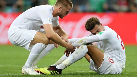 England's Dele Alli, right, and Eric Dier after losing to Croatia Picture: PA